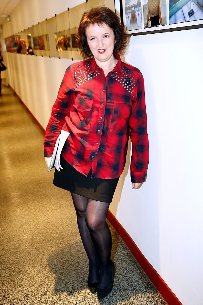 L'humoriste Anne Roumanoff absolument radieuse.   Source : Getty Images