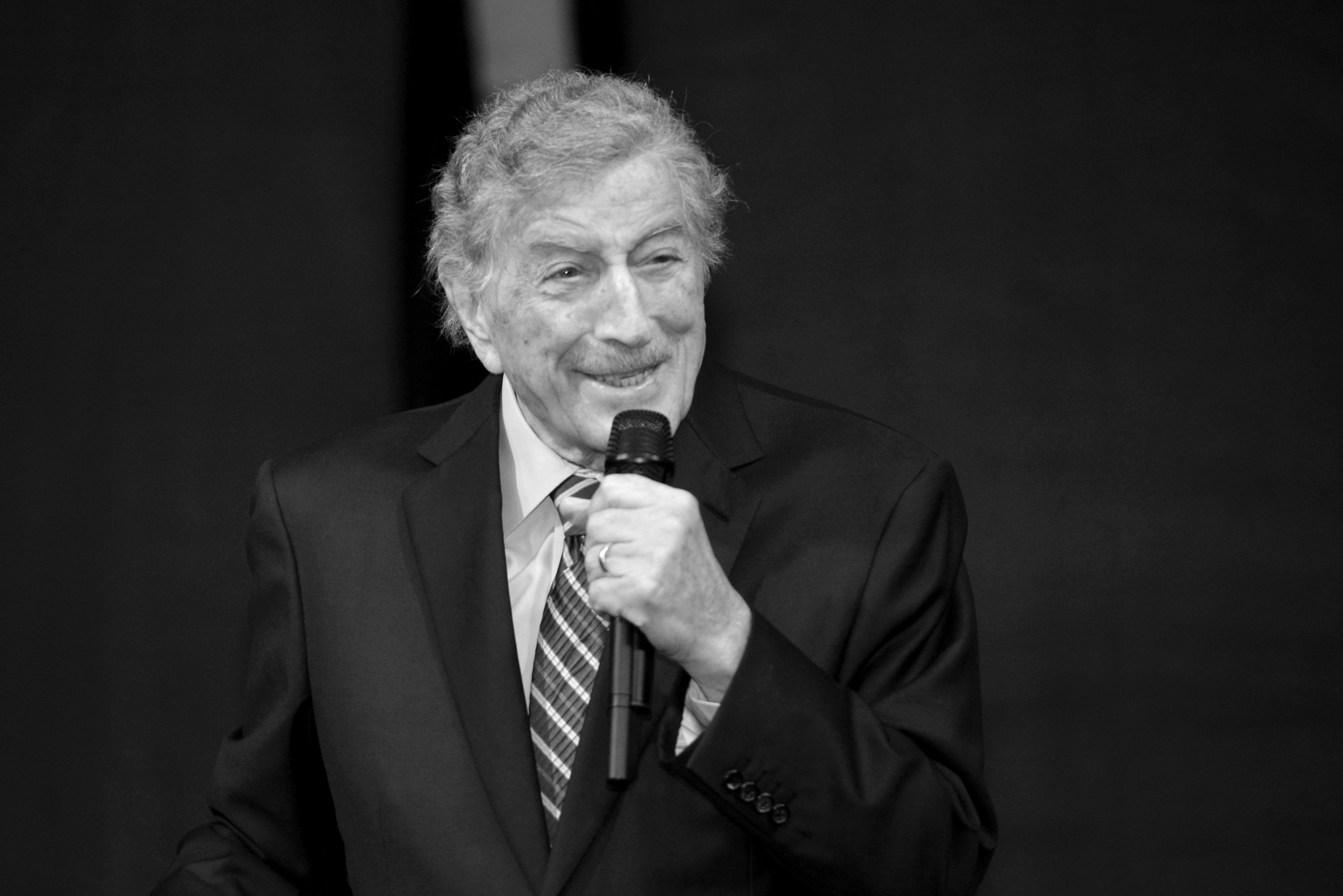 Tony Bennett performs onstage during the Central Park Conservancy Supper Club at Rumsey Playfield, Central Park on November 20, 2019 in New York City.  | Source: Getty Images