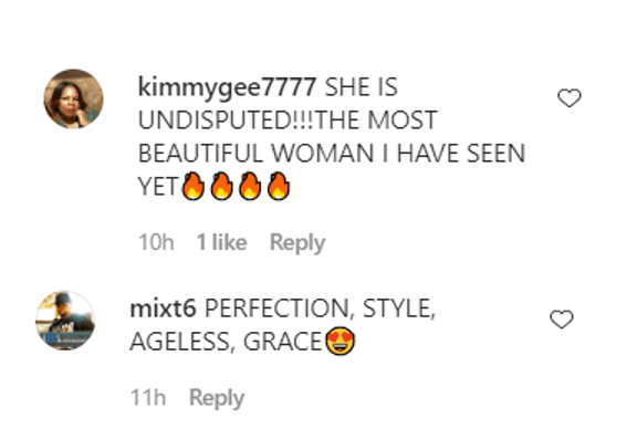 Screenshot showing comments on Nicole Murphy's IG post | Source: Instagram/nikimurphy