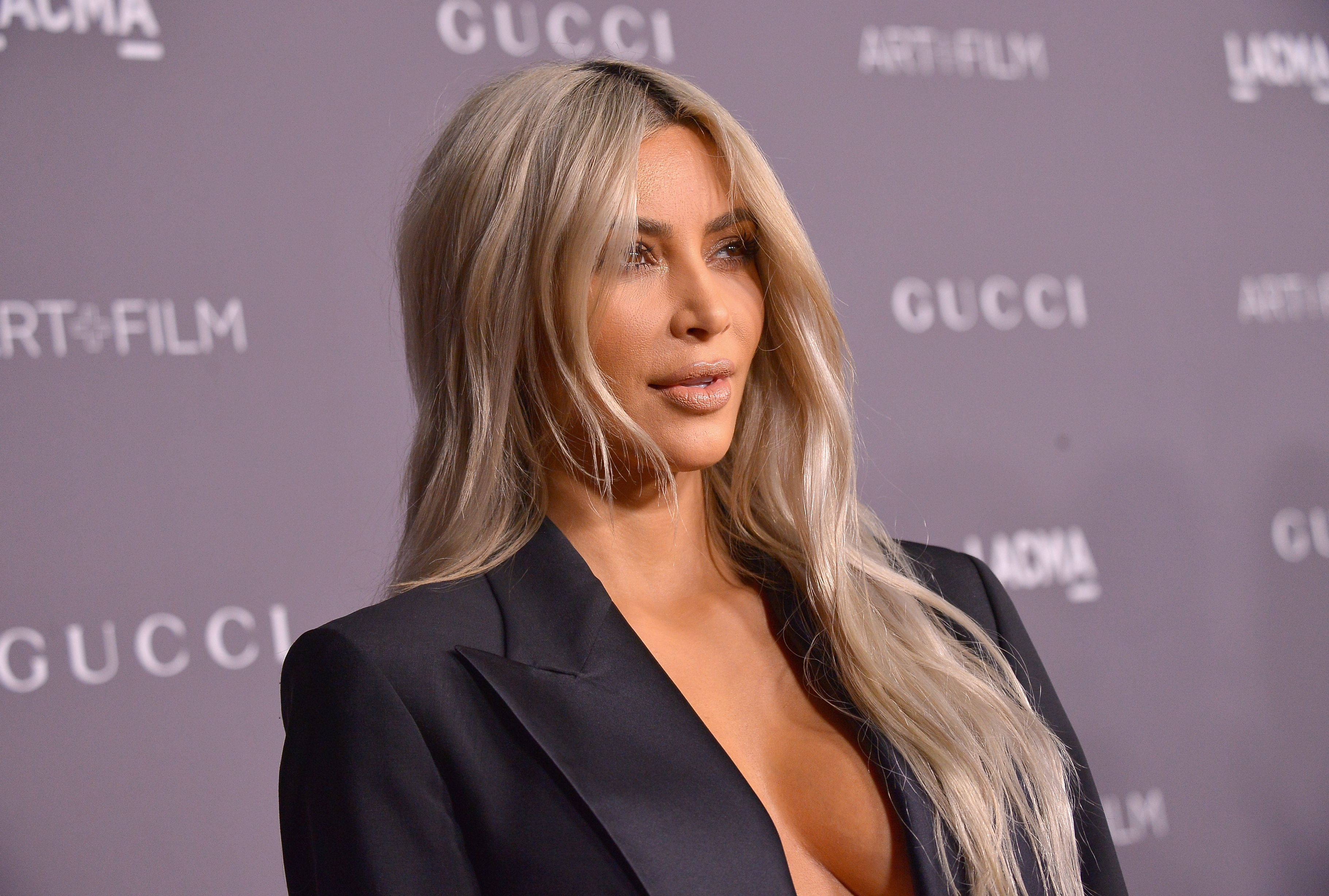 Kim Kardashian West at the 2017 LACMA Art + Film Gala Honoring Mark Bradford and George Lucas presented by Gucci at LACMA on November 4, 2017 | Photo: Getty Images