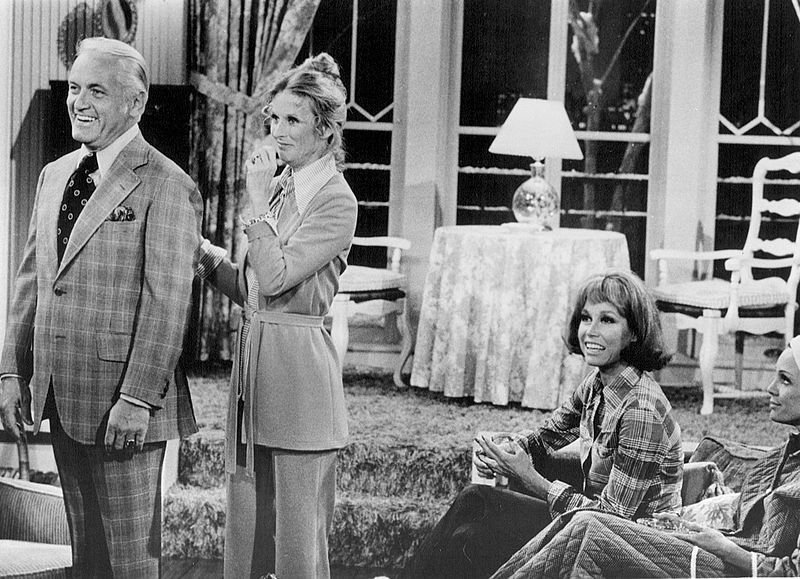 "Ted Knight, Cloris Leachman, Mary Tyler Moore and Valerie Harper from ""The Mary Tyler Moore Show."" 