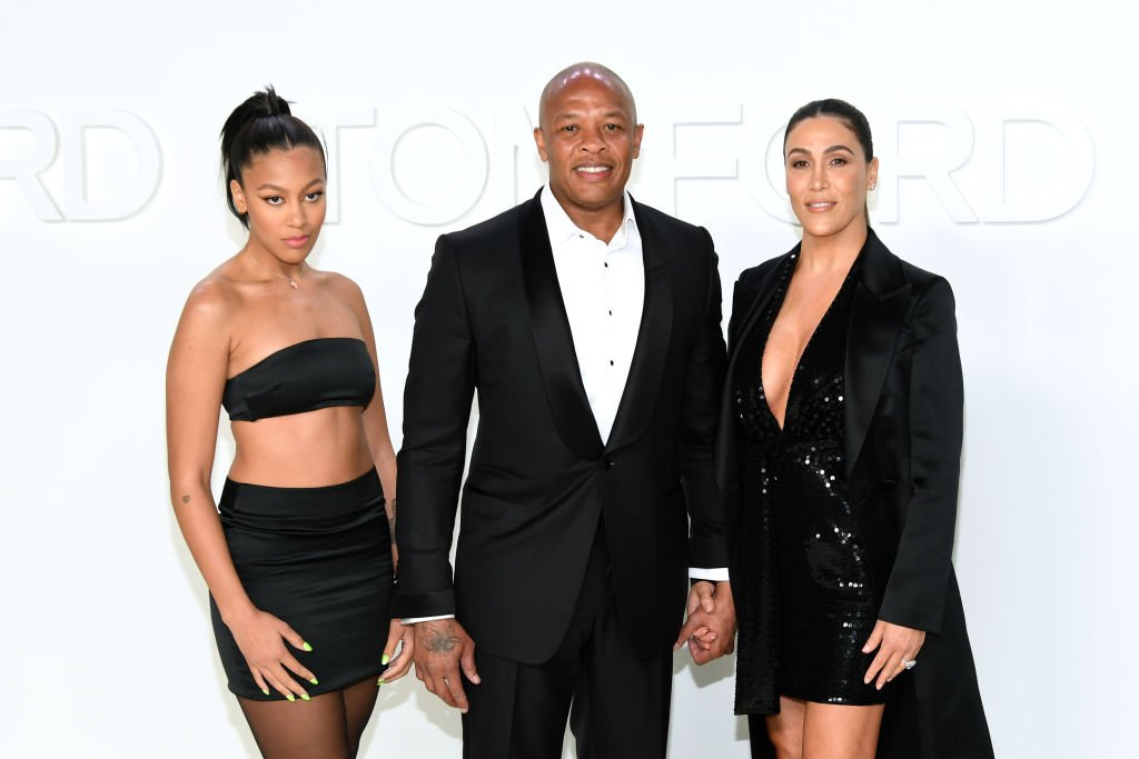 Truly Young, Dr. Dre, and Nicole Young attend the Tom Ford AW20 Show| Photo: Getty Images