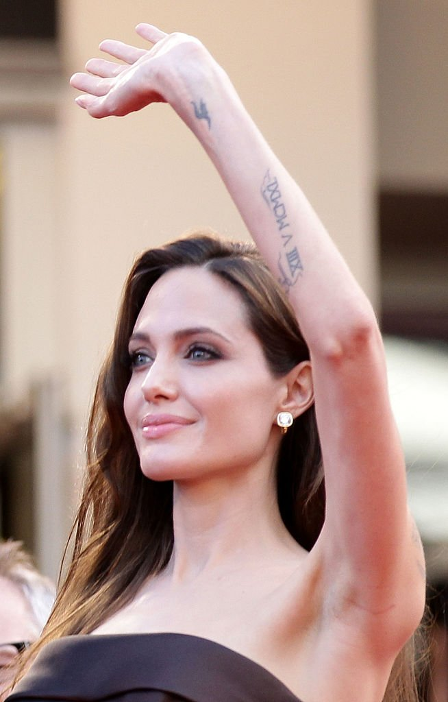 """Angelina Jolie attends the premiere of of """"The Tree Of Life"""" at the 64th Annual Cannes Film Festival in Cannes, France on May 16, 2011 