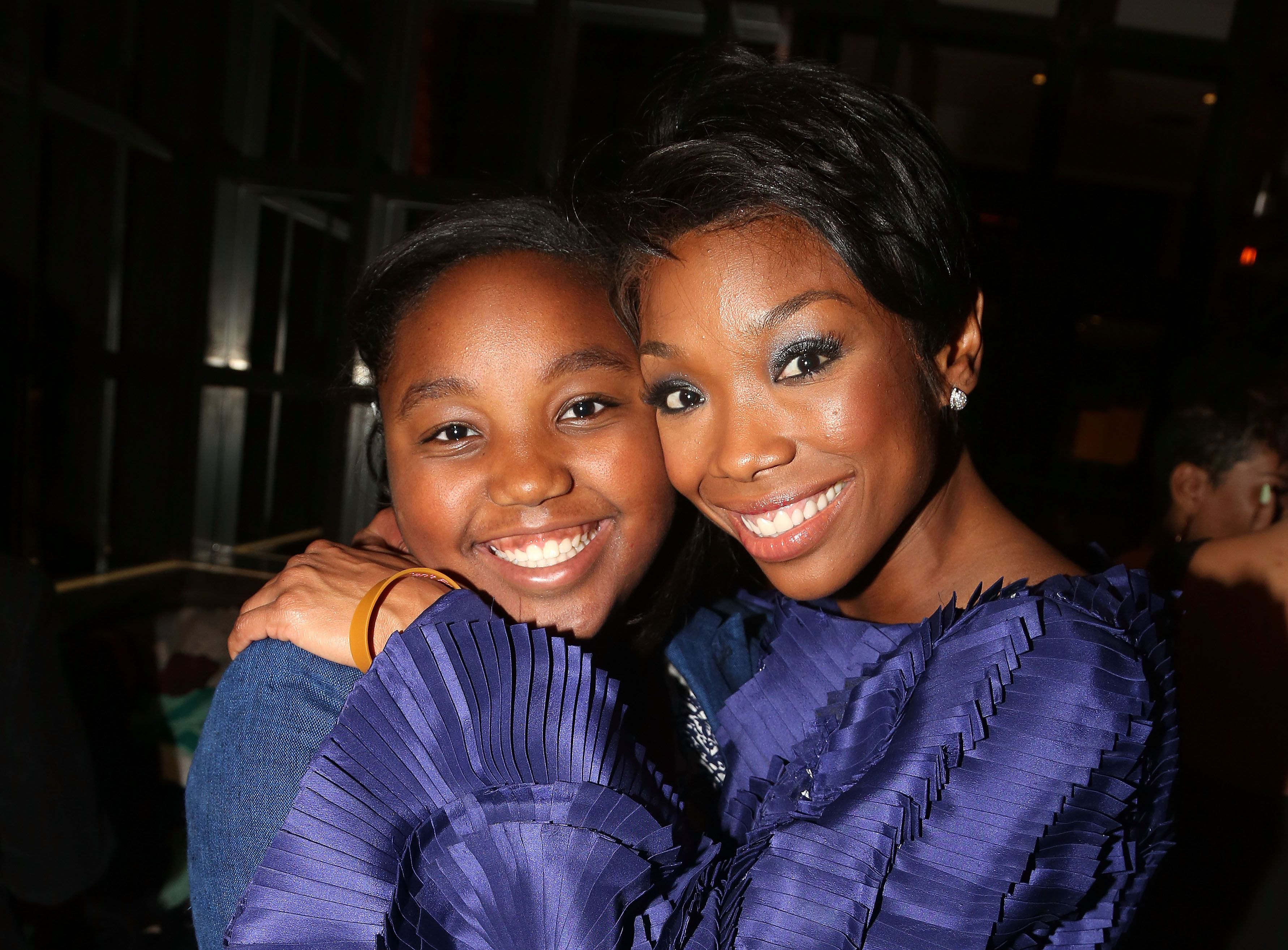 """Brandy Norwood and daughter at the Opening Night After Party for Brandy's debut in """"Chicago"""" on April 30, 2015 in N.Y. 