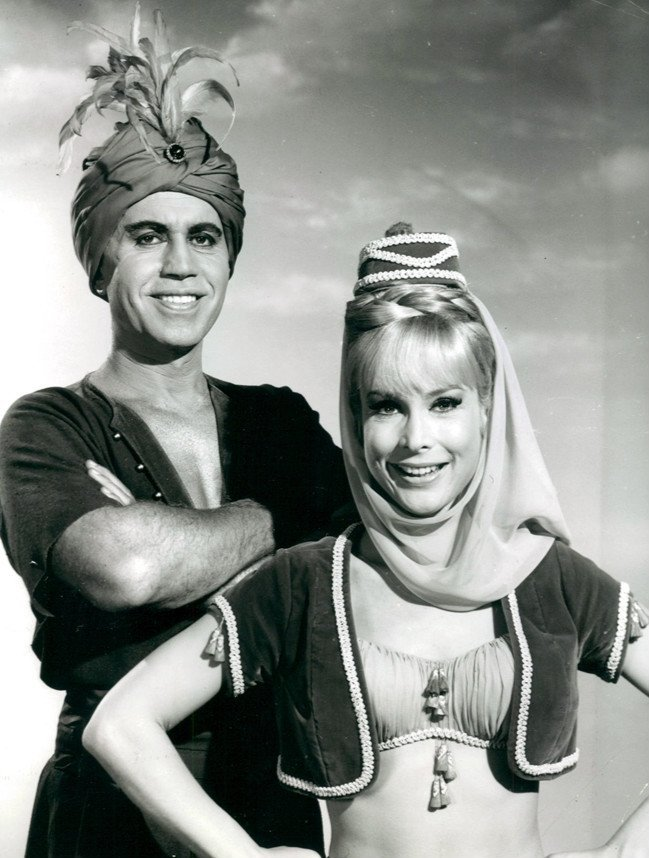 "Publicity photo of Michael Ansara and Barbara Ede from ""I Dream of Jeannie."" 