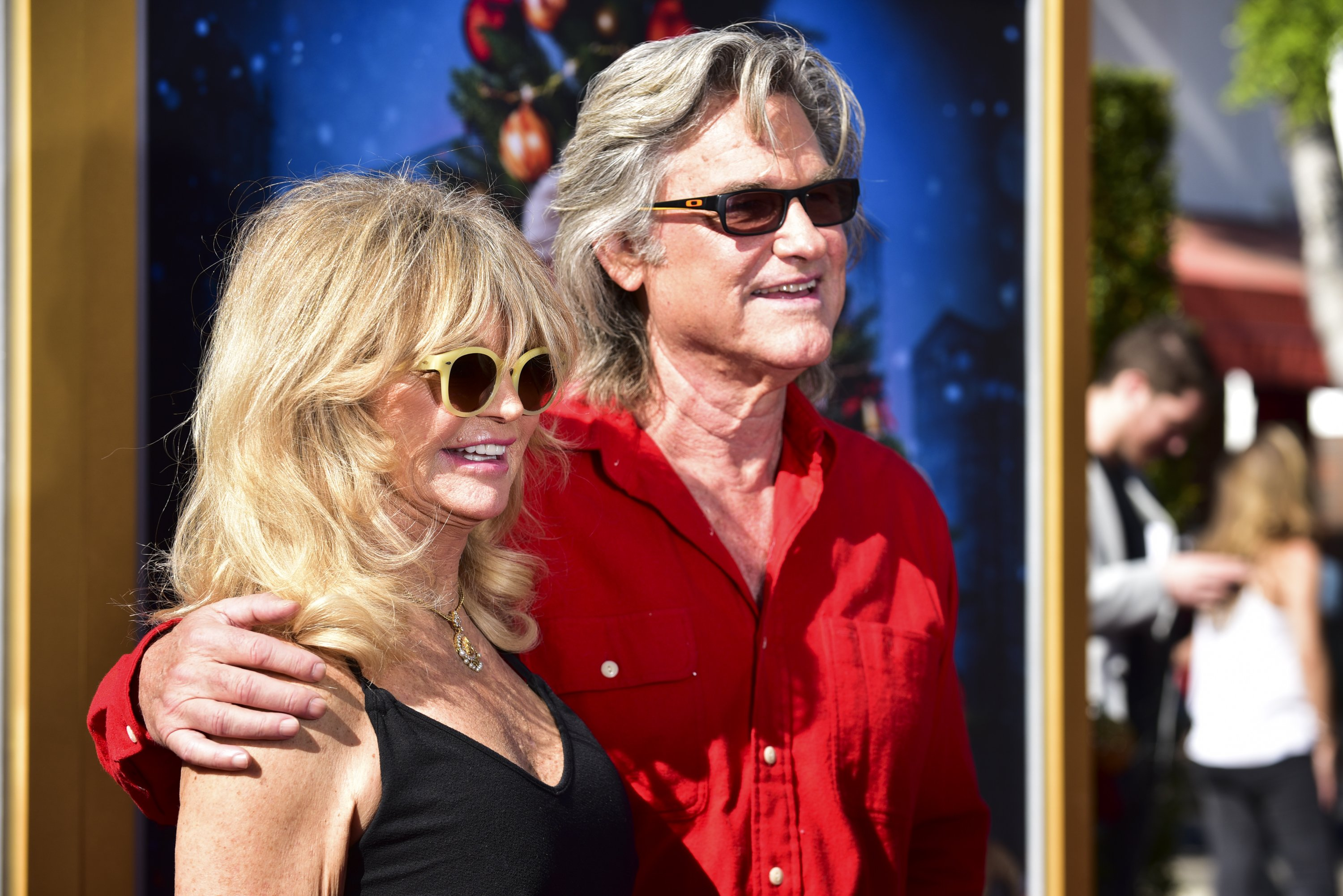 """Goldie Hawn and Kurt Russell attend the premiere of """"The Christmas Chronicles"""" in Los Angeles, California on November 18, 2018 
