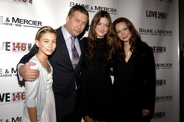 Hailey Baldwin, Stephen Baldwin, Alaia Bladwin and Kennya Baldwin attend Baume Mercier and Love146 Fund Raiser at Helen Mills Event Space on November 20, 2008 | Photo: Getty Images