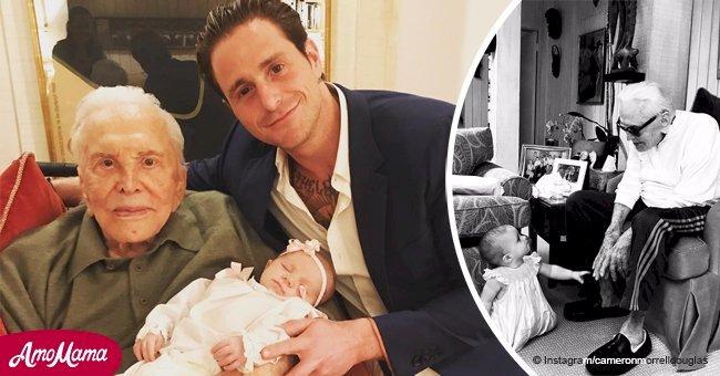 101-year-old Kirk Douglas recently met his great-granddaughter
