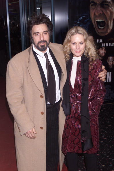 """Al Pacino and Beverley D'Angelo at the UK premiere of the film """"Any Given Sunday"""" on March 29, 2000 in London. 