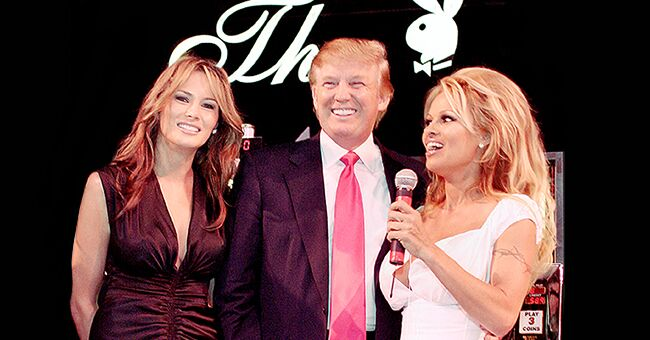 Pamela Anderson from 'Baywatch' Shares Rare Throwback Photo with Donald and Melania Trump