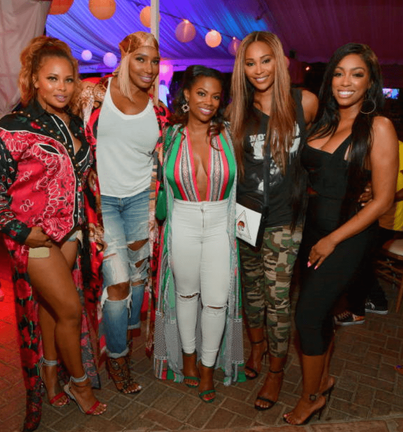 Porsha Williams, Eva Marcille, Kandi Burruss, Cynthia Bailey and Nene Leakes attend the ATL Live On The Park season IX on July 10, 2018 in Atlanta, Georgia | Source: Getty Images (Photo by Prince Williams/WireImage)
