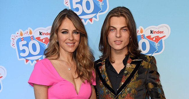 Elizabeth Hurley's Son Damian, 18, Shows off His Killer Abs Posing Shirtless in This New Photo