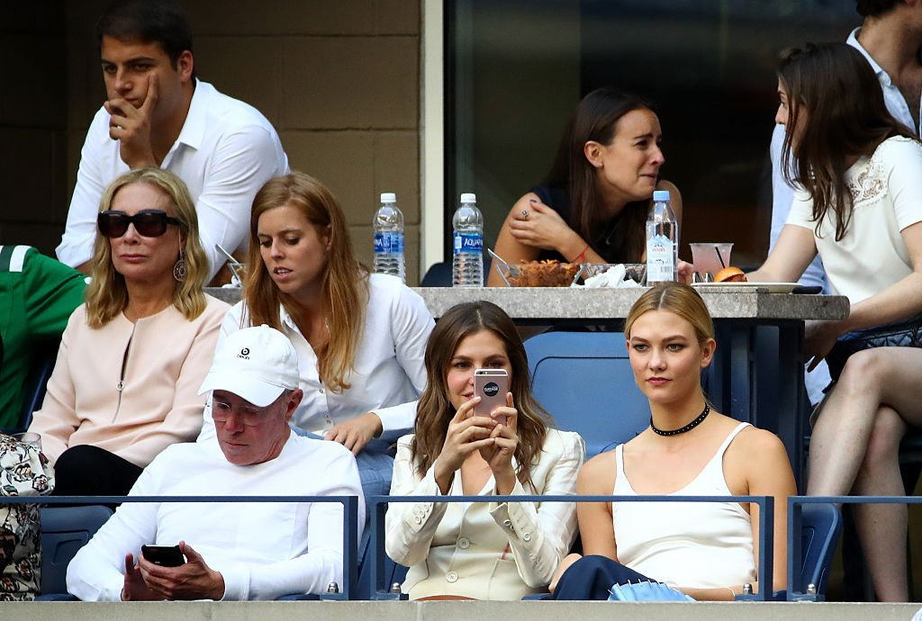 David Geffen, Princess Beatrice, Guest and model Karlie Kloss. Image Credit: Getty Images