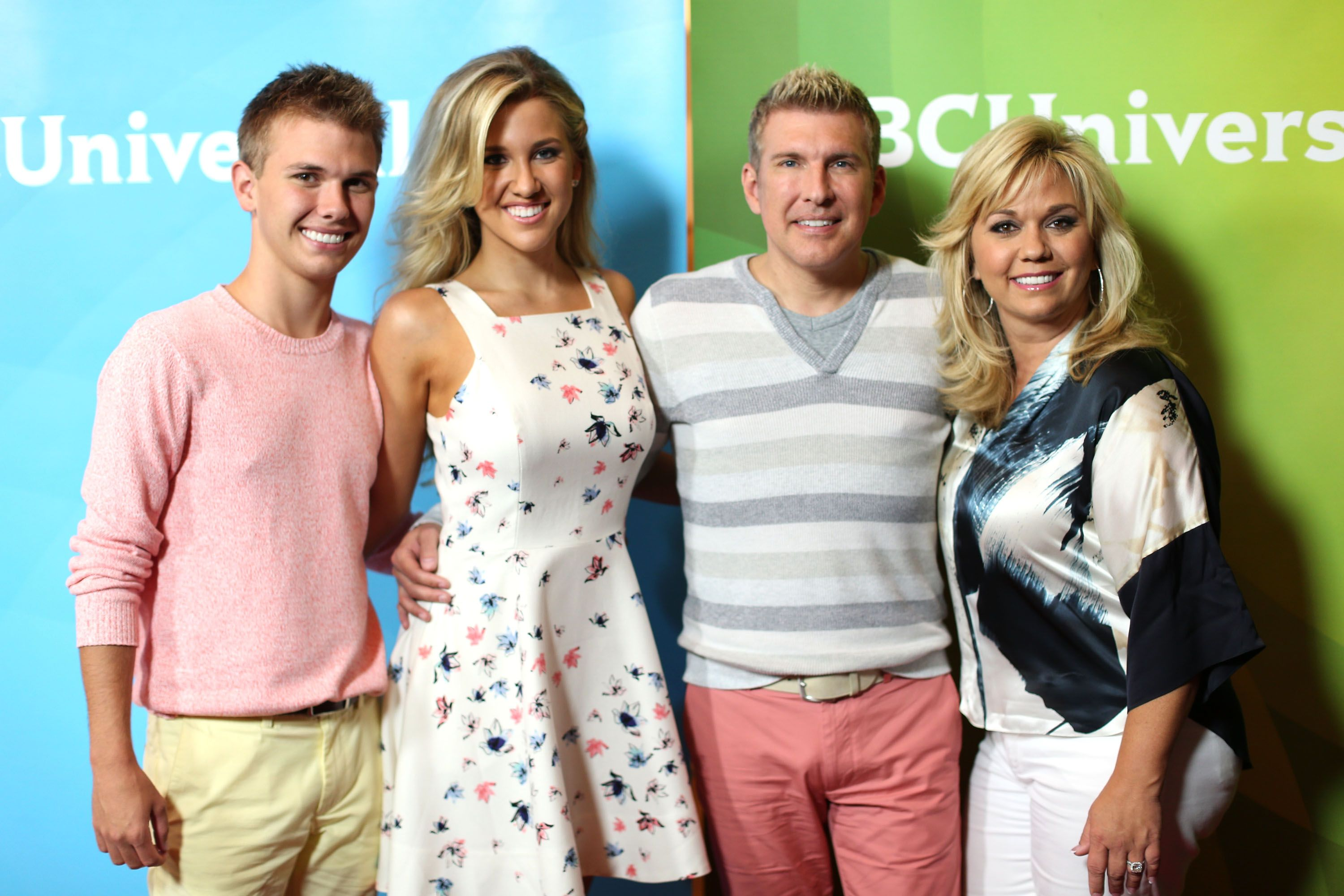 Chase Chrisley, Savannah Chrisley, Todd Chrisley and Julie Chrisley at NBCUniversal's 2014 Summer TCA Tour day 2 at The Beverly Hilton Hotel on July 14, 2014 | Photo: Getty Images