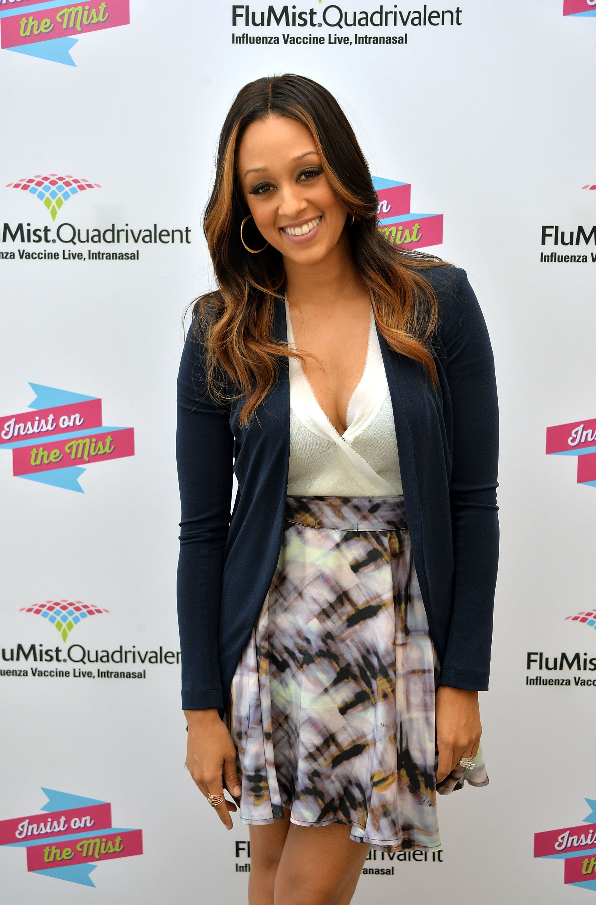 """Tia Mowry at the launch of """"I Insist!""""- a FluMist Quadrivalent, 2013 in New York, USA 
