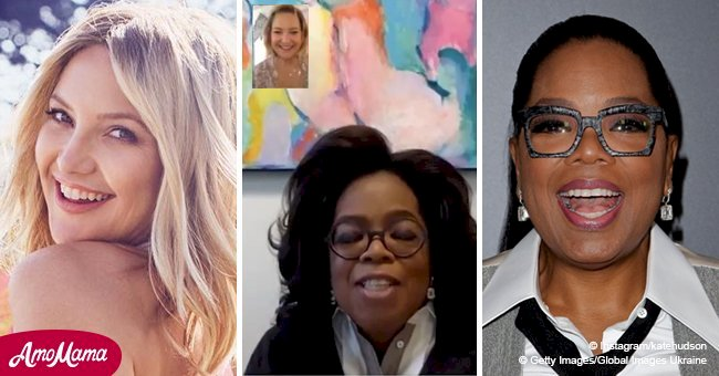 Oprah interviewed Kate Hudson about her 'why' to be healthy via cutest FaceTime call