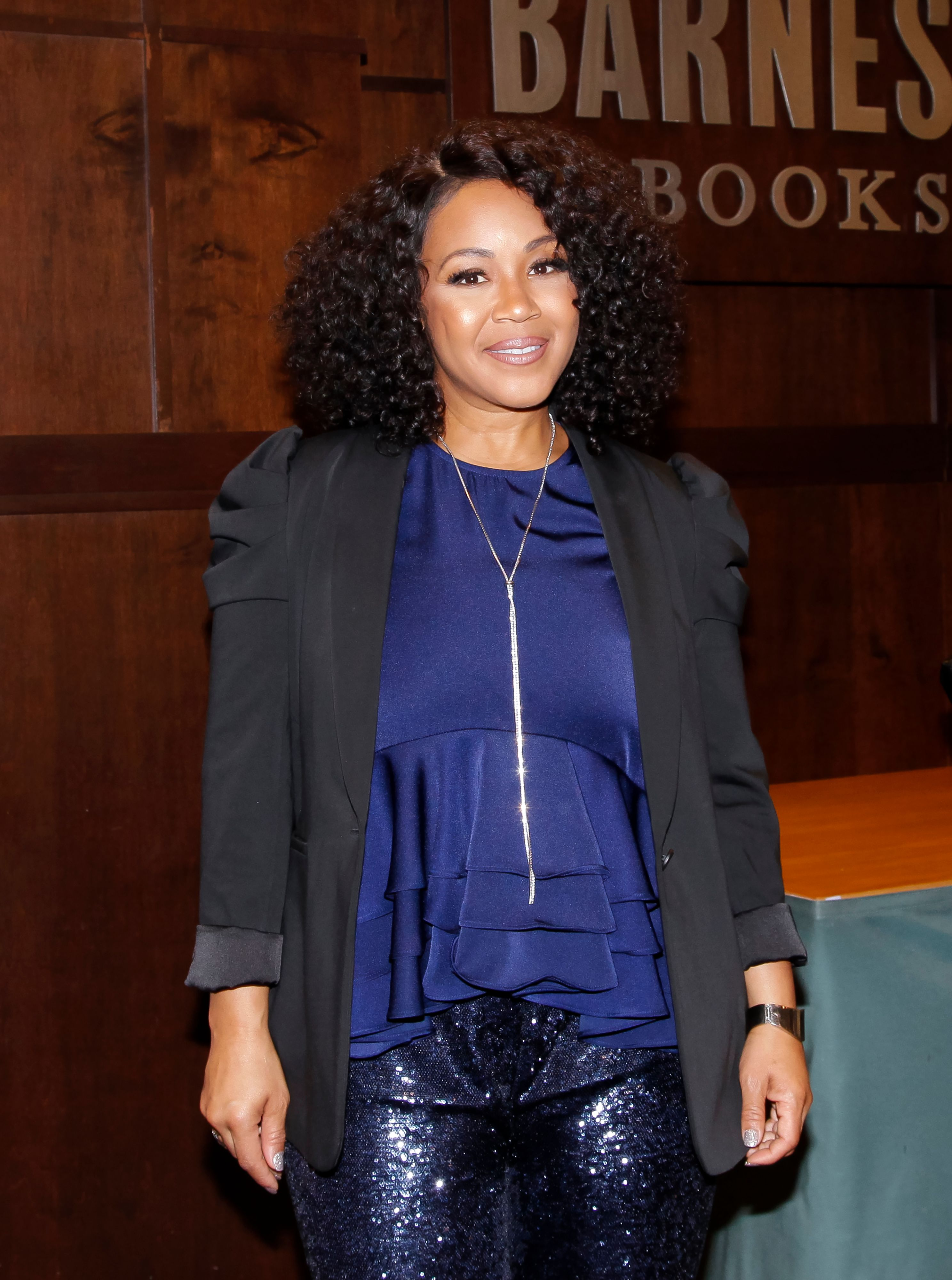 """Erica Campbell promotes her new book, """"More Than Pretty' at Barnes & Noble"""" at The Grove on September 28, 2019 in Los Angeles, California. 