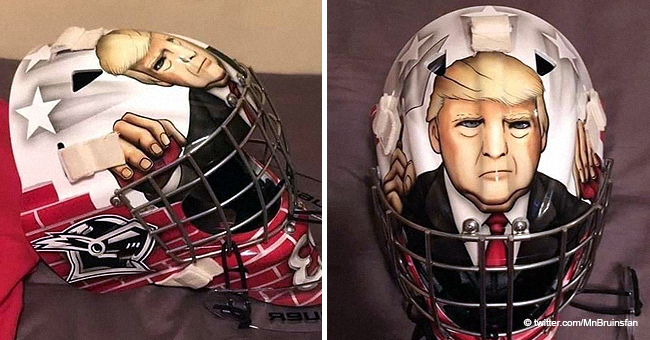 Young Hockey Player Slammed for Goalie Mask Depicting Donald Trump Building a Wall