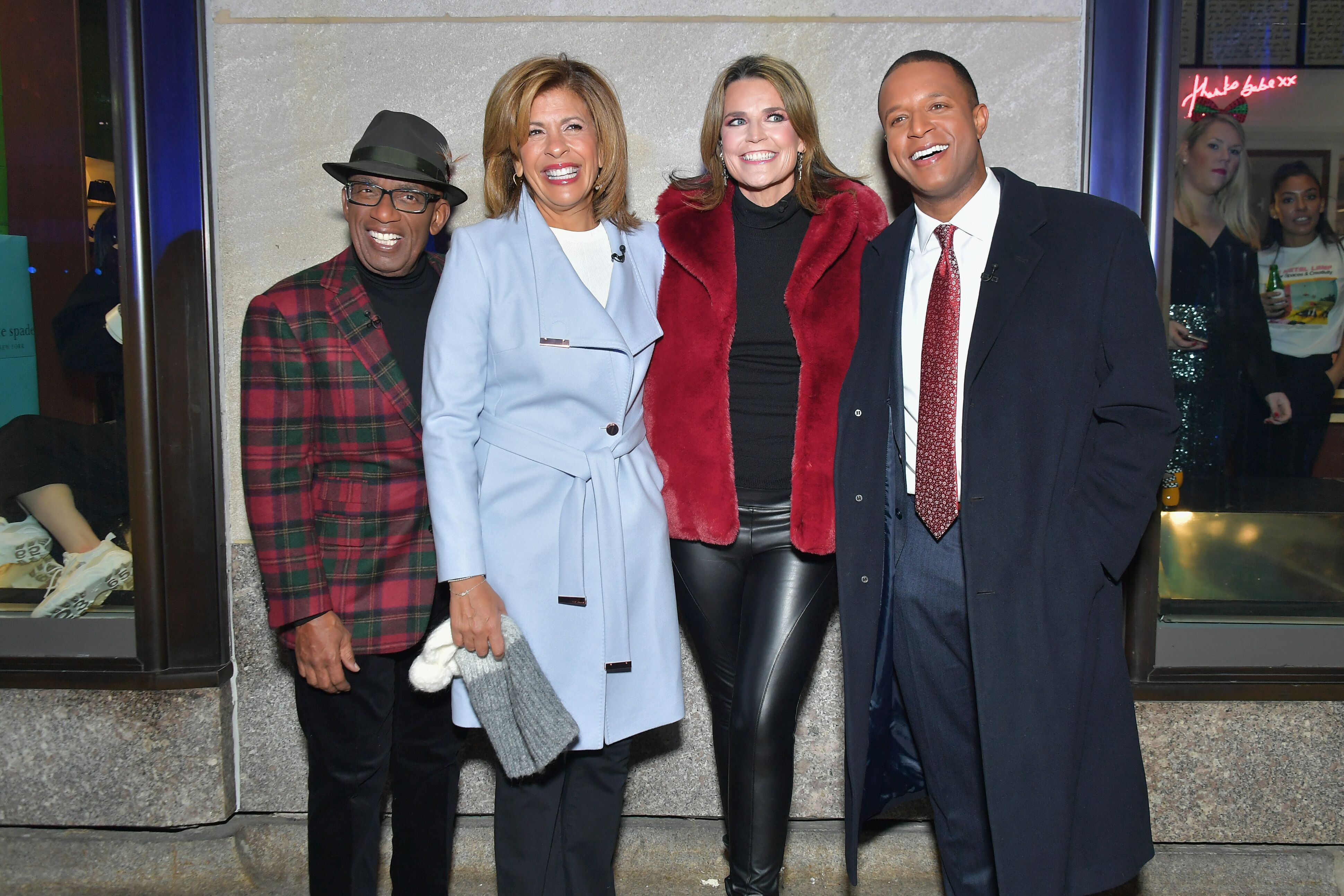 Al Roker, Hoda Kotb, Savannah Guthrie, and Craig Melvin host the 86th Annual Rockefeller Center Christmas Tree Lighting Ceremony on November 28, 2018, in New York City | Photo: Michael Loccisano/Getty Images