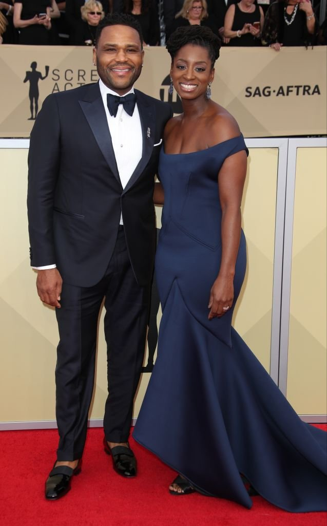 Anthony Anderson and Alvina Stewart arrive at the 24th Annual Screen Actors Guild Awards at The Shrine Auditorium  | Getty Images