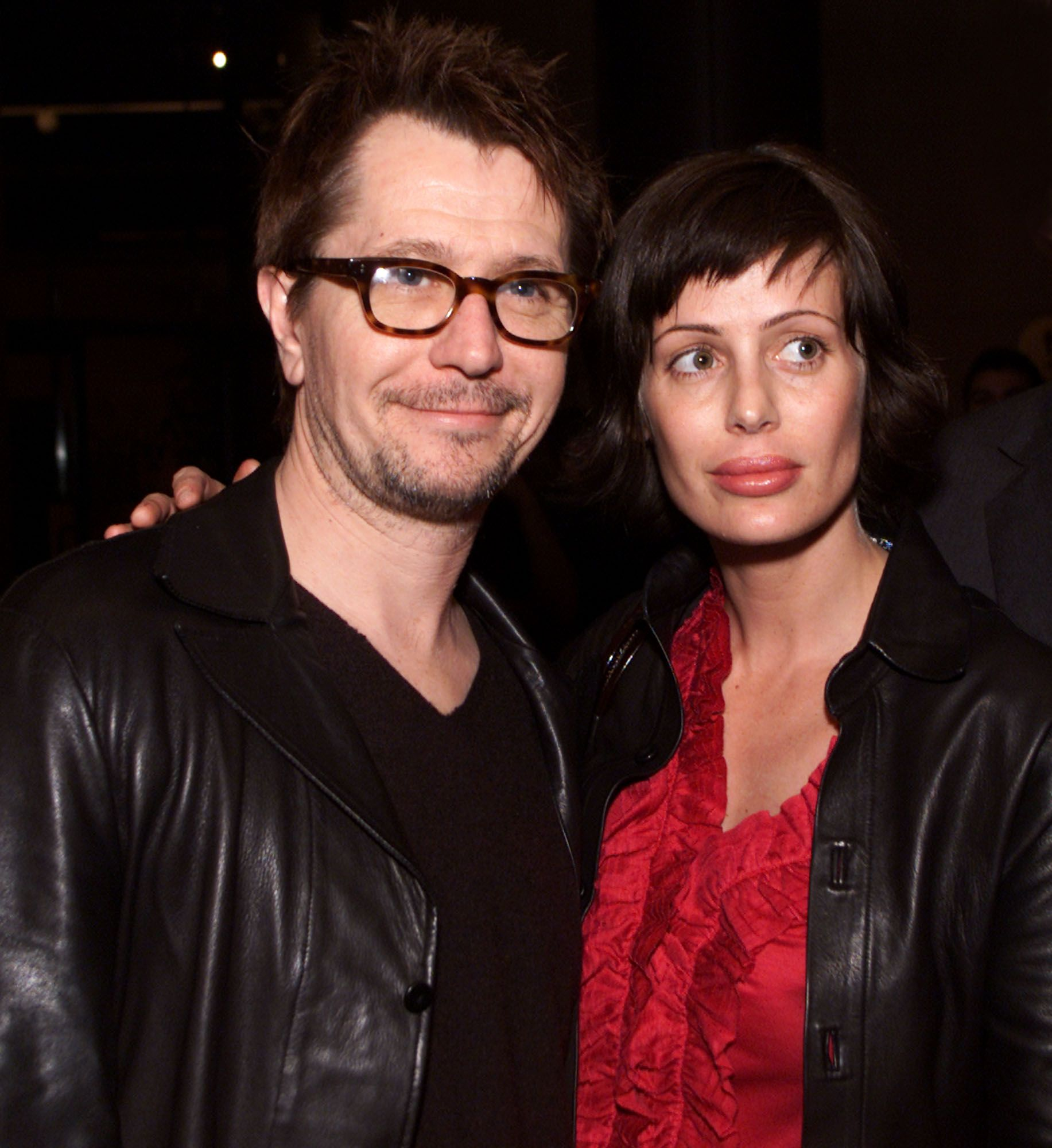 Gary Oldman and Donya Fiorentino at the premiere of 'Before Night Falls' in 2000 in  Los Angeles   Source: Getty Images