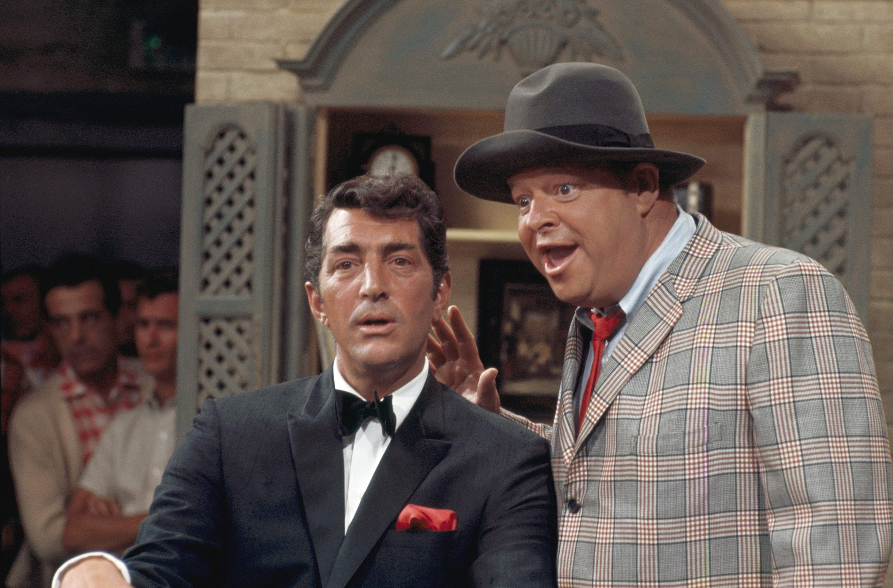 THE DEAN MARTIN SHOW: Host Dean Martin, Frank Fontaine as Crazy Guggenheim.   Source: Getty Images