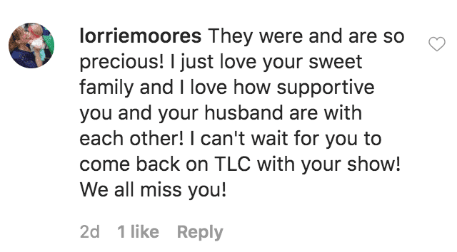 A fan comments Courtney Waldrop's tribute post to her sextuplet children on the say they were released from the hospital | Source: instagram.com/gods_divine_nine