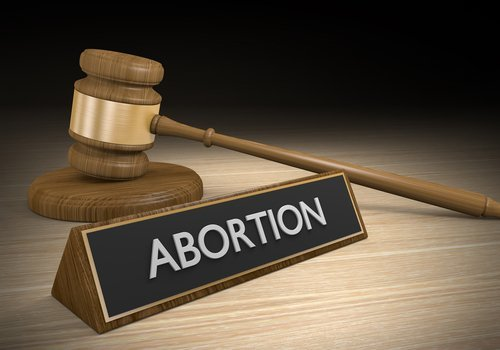 Legal concept of abortion law. | Source: Shutterstock.