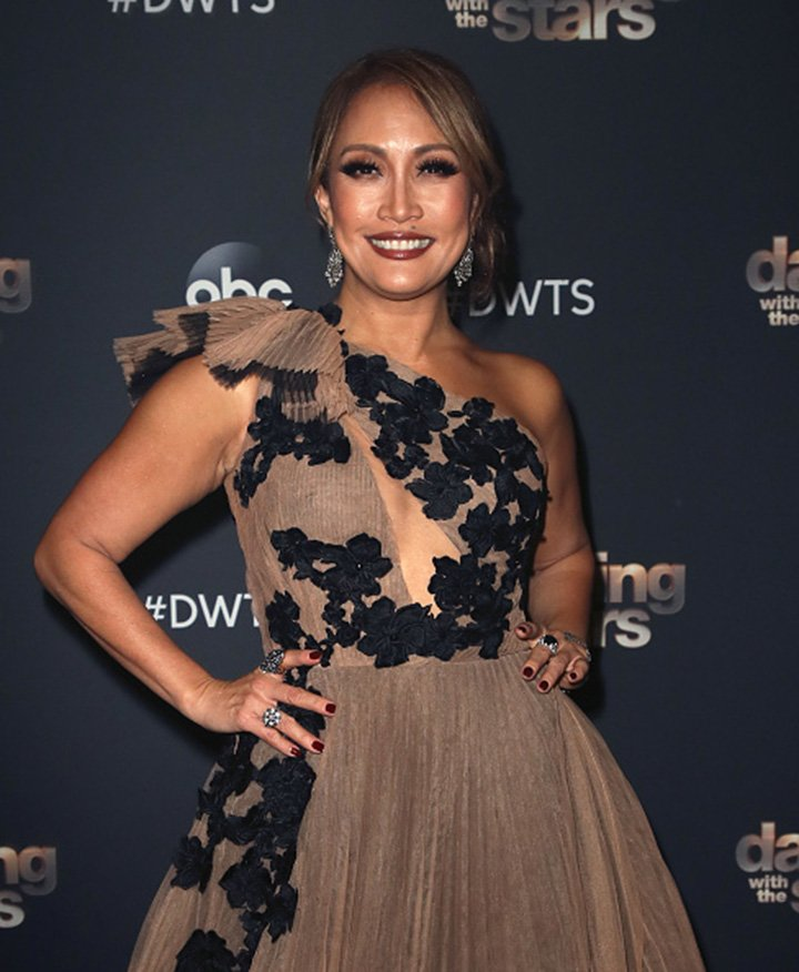 "Carrie Ann Inaba posing on ""Dancing with the Stars"" Season 28 Finale at CBS Television City in Los Angeles, California in November 2019. I Image: Getty Images."