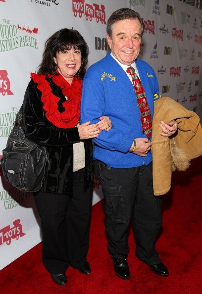 Jerry Mathers and Teresa Modnick on December 1, 2013 in Hollywood, California.   Photo: Getty Images