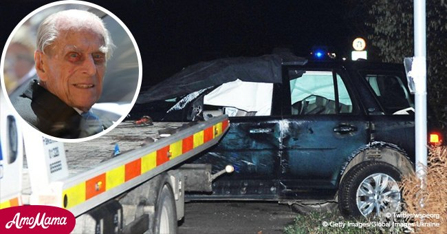 Innocent victims: mother and nine-month-old baby were in a car hit by Prince Philip's Land Rover