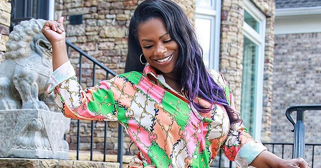 Kandi Burruss' Stepdaughter Kaela Flaunts Blue Braids & Displays Flat Tummy in Workout Attire