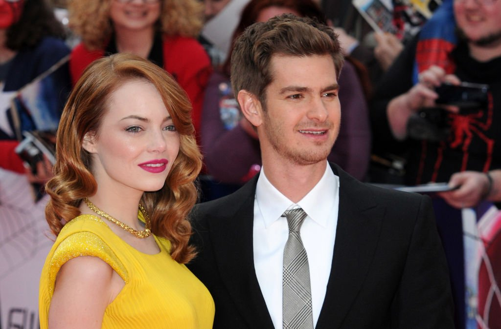 """Emma Stone and Andrew Garfield attends """"The Amazing Spiderman 2"""" World Premiere at Odeon Leicester Square on April 10, 2014 in London, England. 