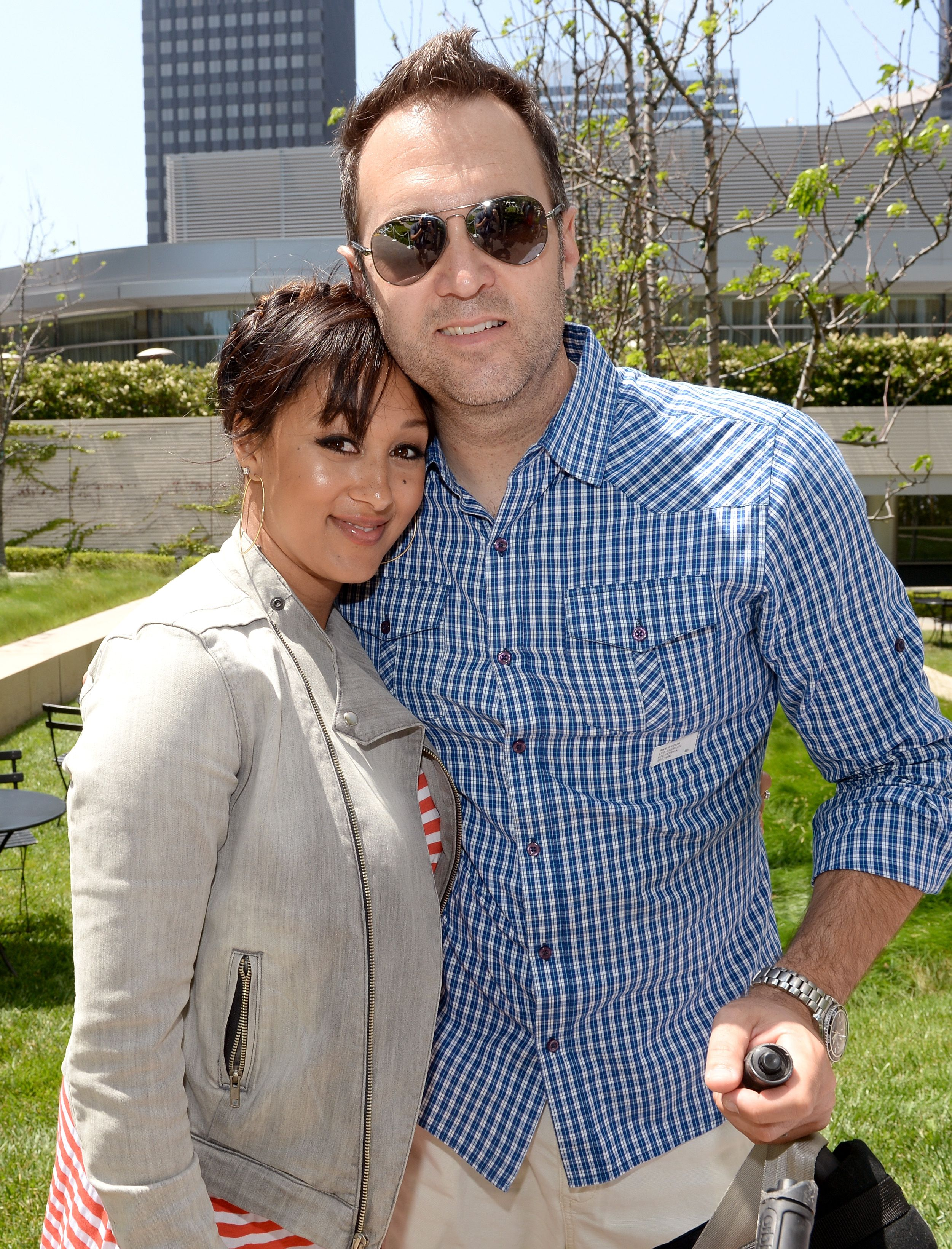 """Adam Housley and wife Tamera Mowry at the Elizabeth Glaser Pediatric AIDS Foundation's 24th Annual """"A Time For Heroes""""  in 2013 in Los Angeles, California   Source: Getty Images"""
