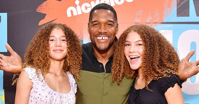 Michael Strahan and his twin daughters Isabella and Sophia.   Photo: Getty Images