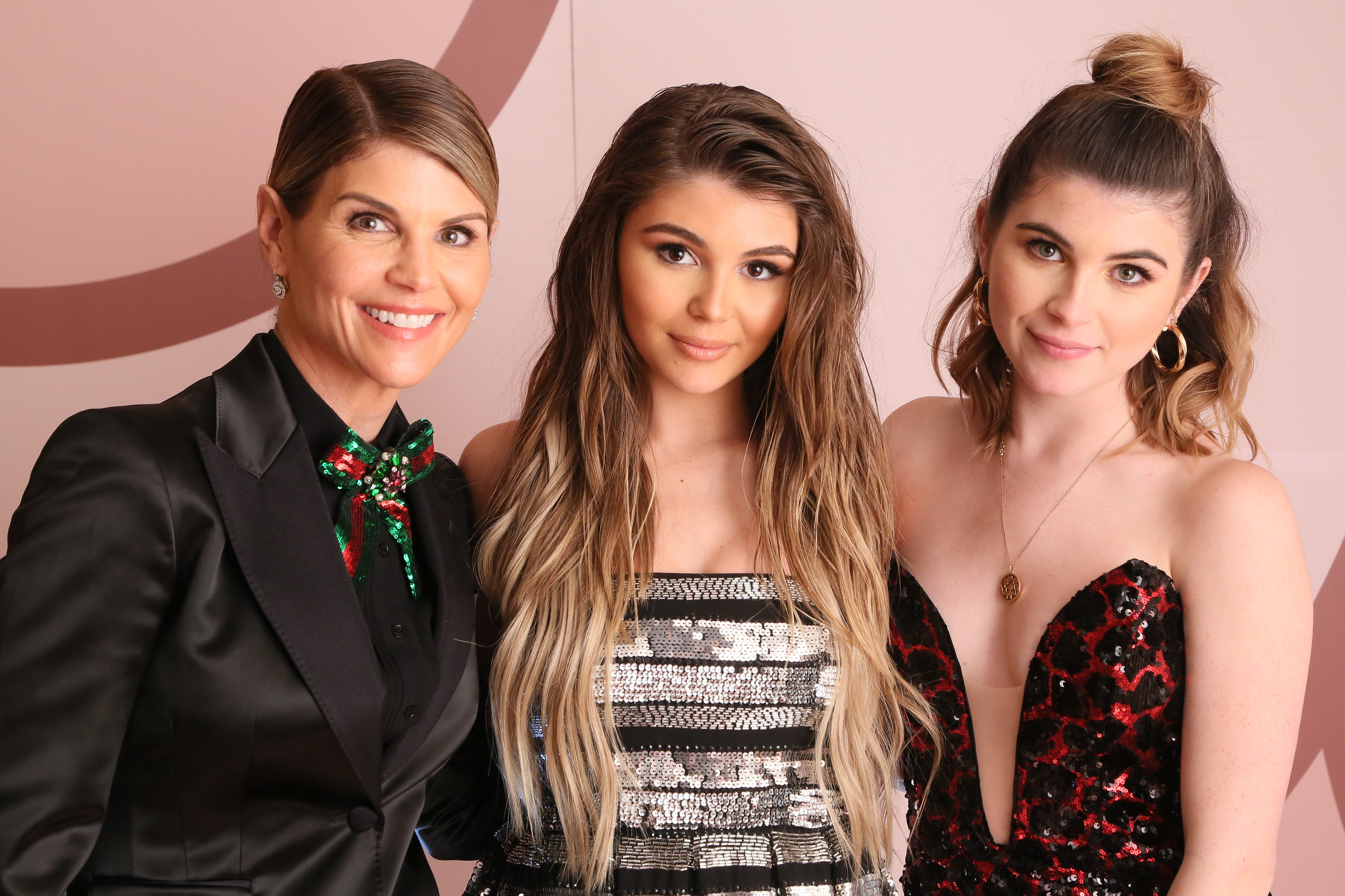 Lori Loughlin and daughters Olivia Jade and Isabella Rose Giannulli at the Olivia Jade X Sephora Collection Palette Collaboration Launching Online at Sephora.com on December 14, 2018 in West Hollywood, California. | Source: Getty