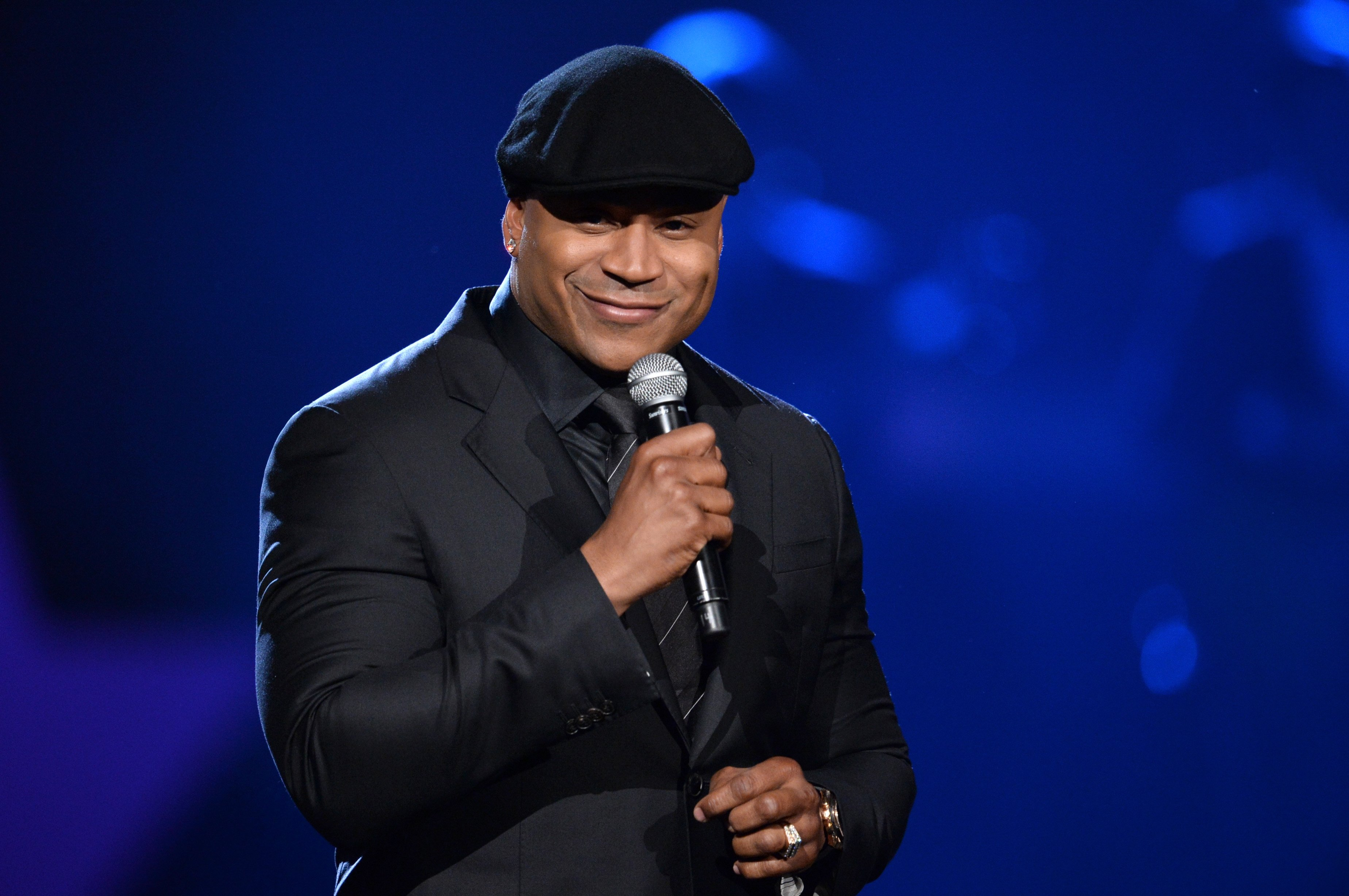 """LL Cool J speaks at """"A Grammy Salute to the Beatles"""" at the LA Convention Center on January 27, 2014.