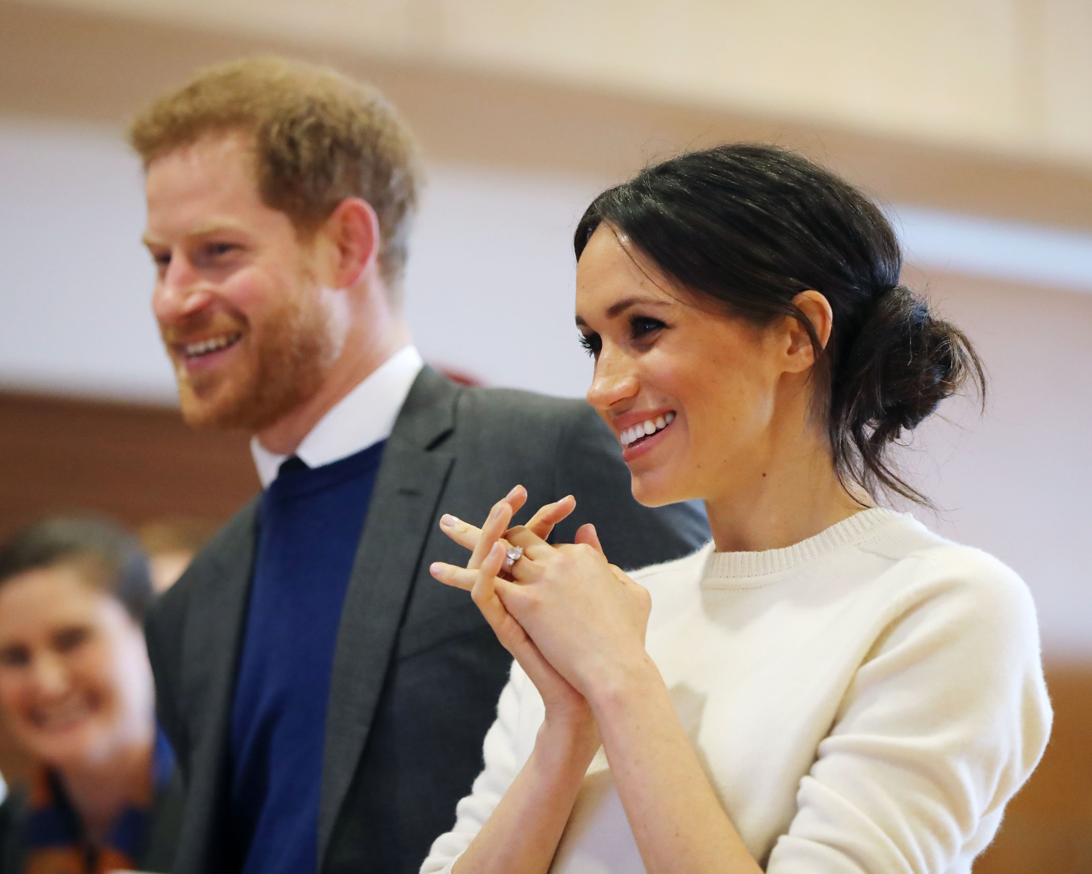 Prince Harry and Meghan Markle during a visit to Catalyst Inc science park in Belfast on March 23, 2018 in Belfast, Nothern Ireland   Photo: Getty Images