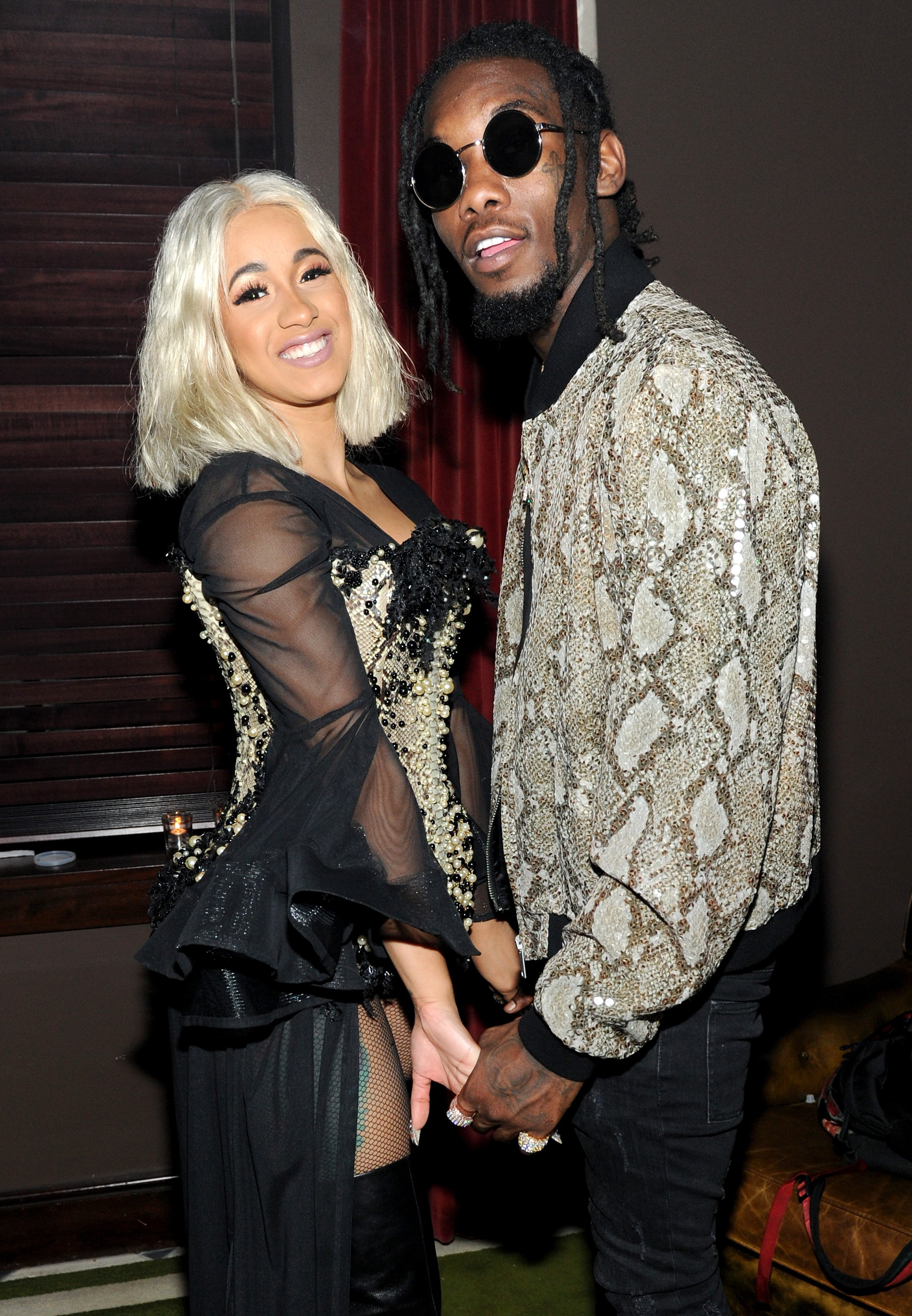 Cardi B (L) and Offset attend NYLON's Rebel Fashion Party, powered by Land Rover on September 12, 2017. | Photo: GettyImages