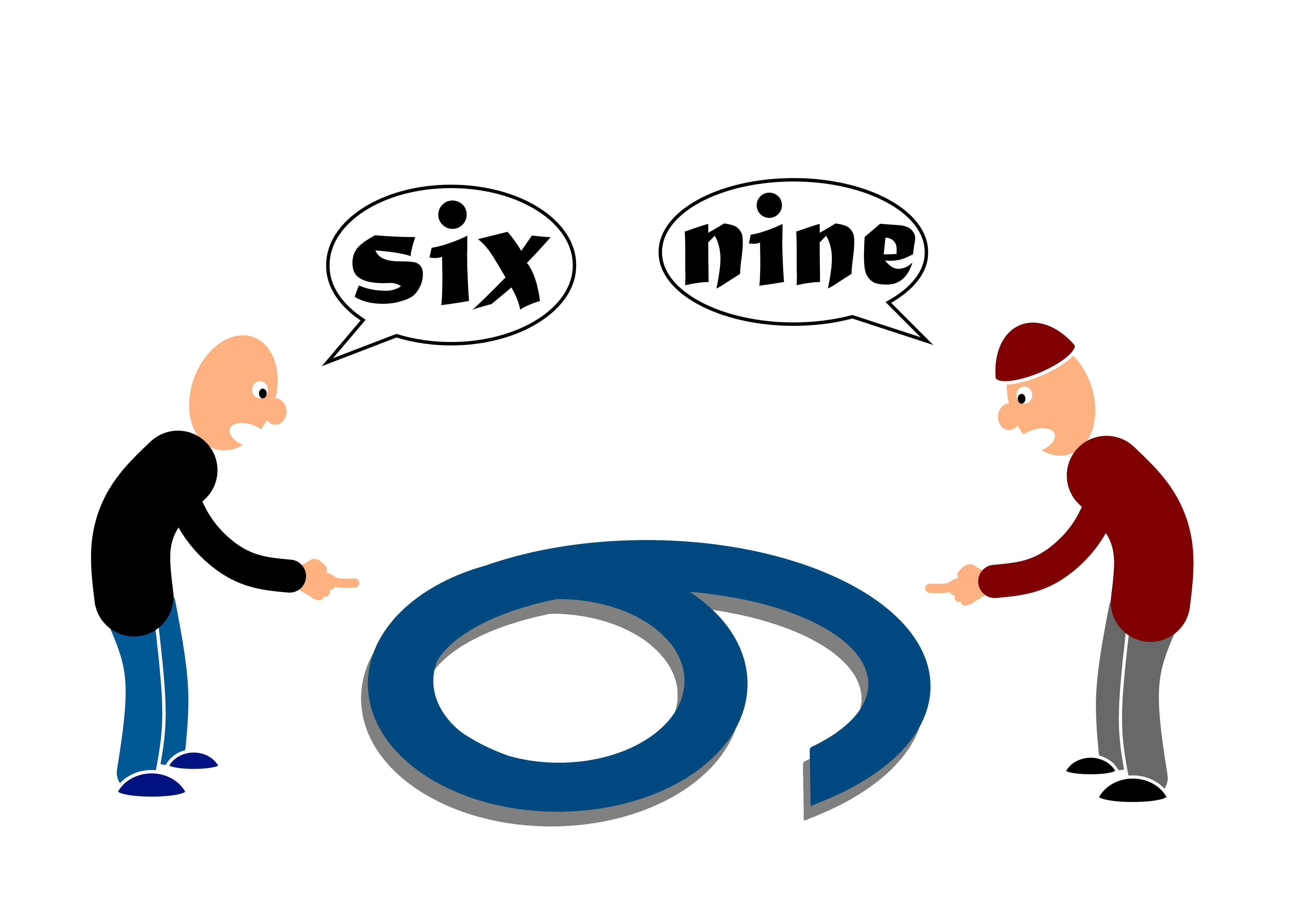 Two men with two different perspectives of a number | Photo: Shutterstock