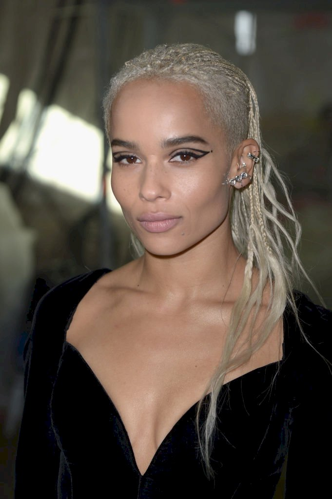 PARIS, FRANCE - FEBRUARY 28: Zoe Kravitz attends the Saint Laurent show as part of the Paris Fashion Week Womenswear Fall/Winter 2017/2018 on February 28, 2017 in Paris, France. (Photo by Dominique Charriau/WireImage)