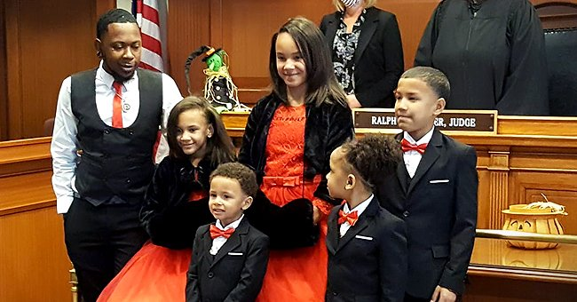 Touching Story of a Single Foster Dad Who Adopted 5 Siblings So They Don't Get Separated