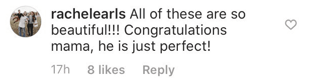 Another fan comment on Audrey's post | Instagram: @audreyroloff