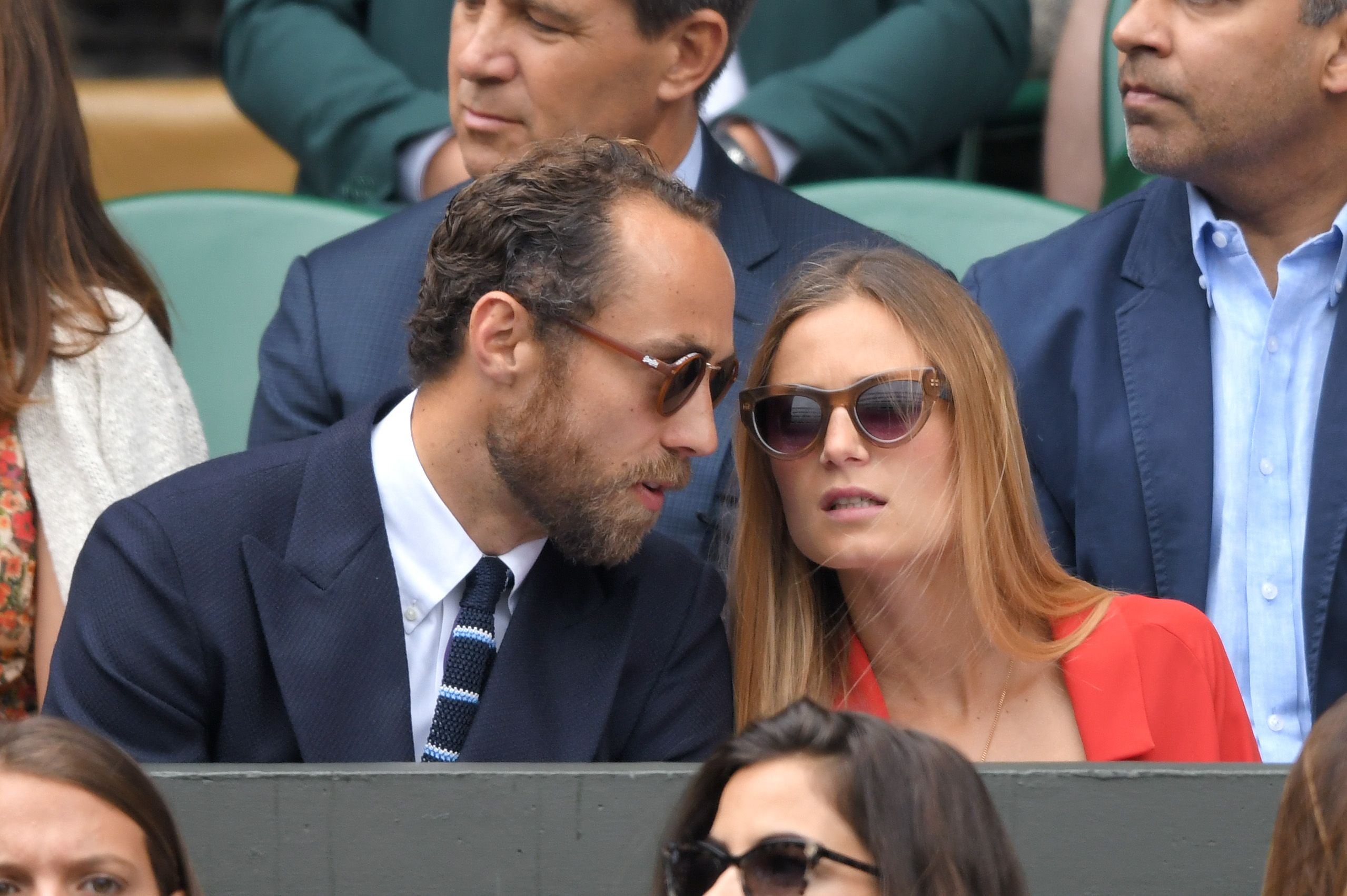 James Middleton and Alizee Thevenet attend the Men's Finals Day of the Wimbledon Tennis Championships at All England Lawn Tennis and Croquet Club on July 14, 2019 in London, England. | Source: Getty Images