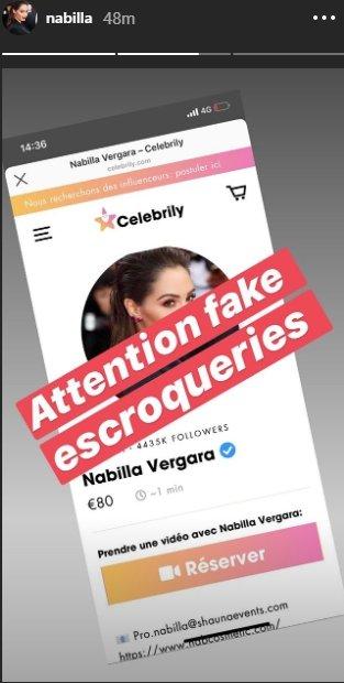 Source: Story Instagram de Nabilla