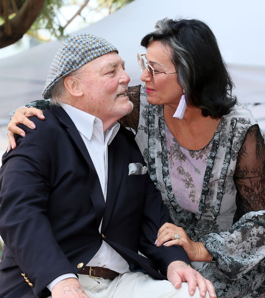 Stacy Keach and wife Malgosia Tomassi Keach attend his being honored with a Star on the Hollywood Walk of Fame   Getty Images