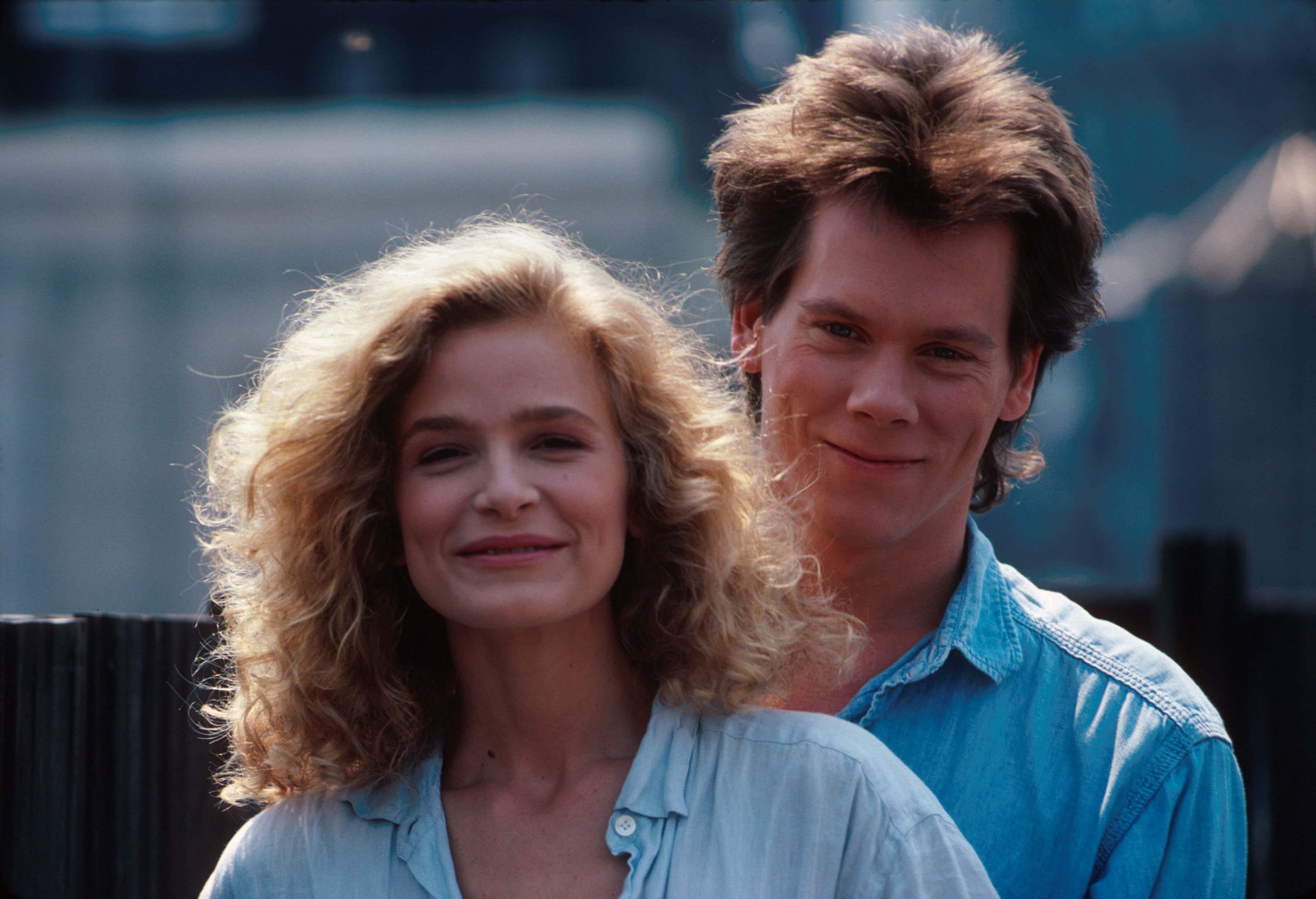 Kevin Bacon with Kyra Sedgwick on photo shoot in New York. August 1988 | Photo: GettyImages