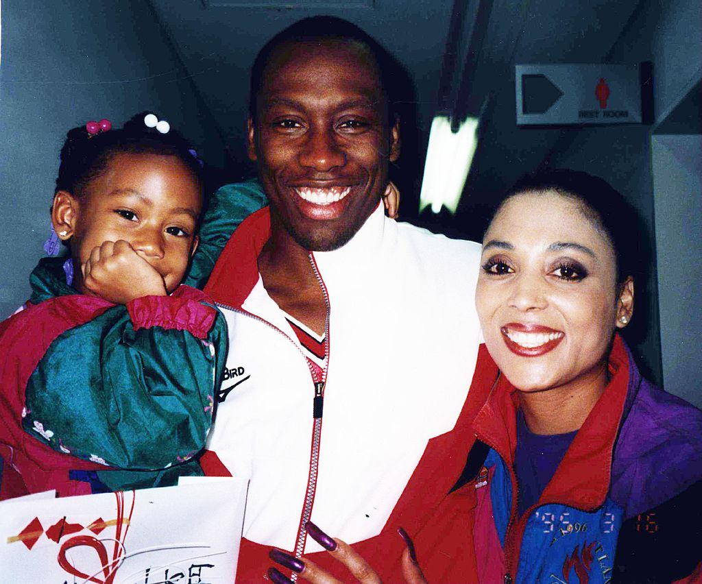 Mary Joyner, Al Joyner and Florence Griffith Joyner in Mission Viejo California, 1999   Source: Getty Images