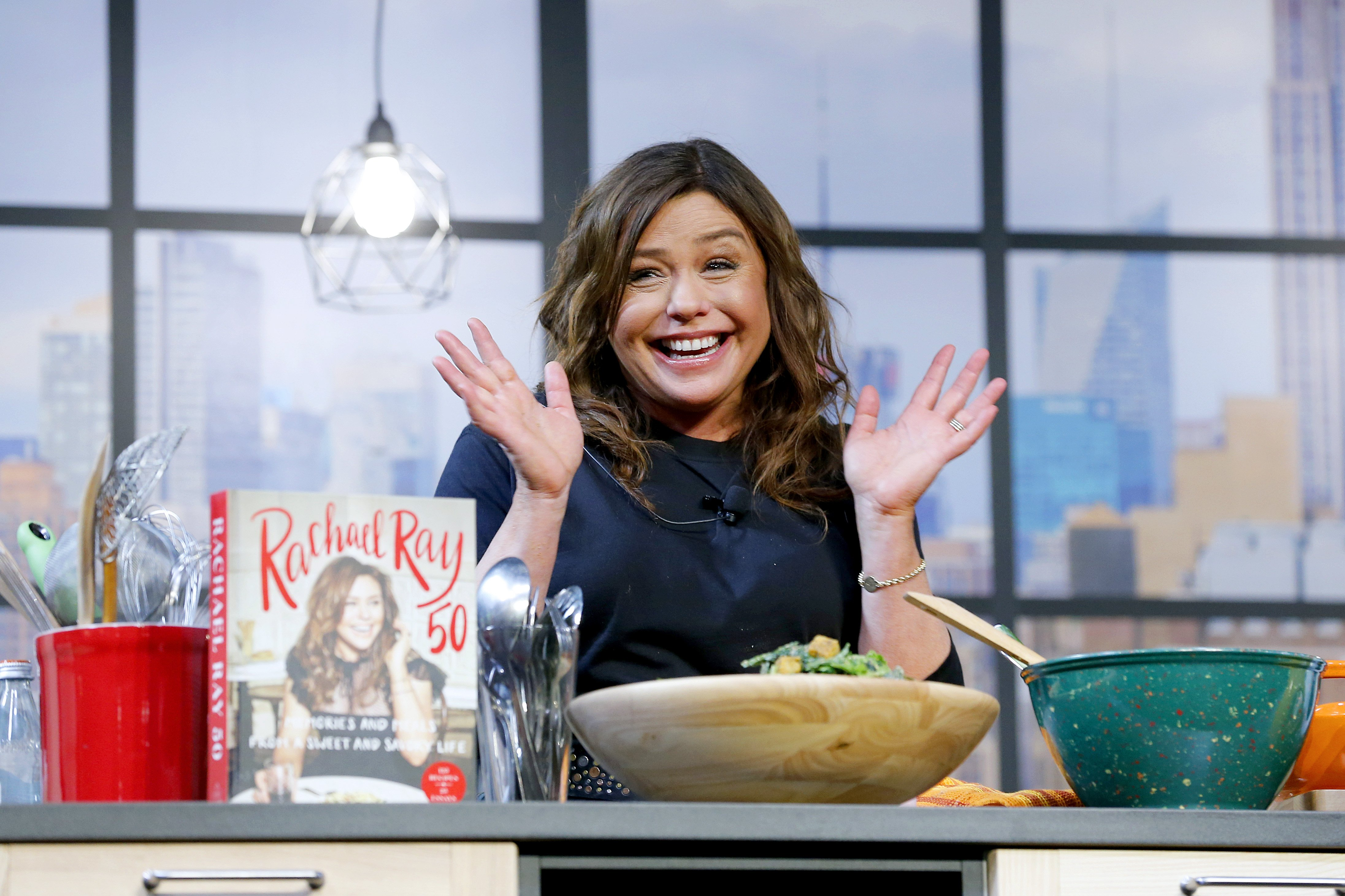 Rachael Ray onstage during a culinary demonstration at the Grand Tasting presented by ShopRite on October 12, 2019 in New York City. | Image: Getty Images.