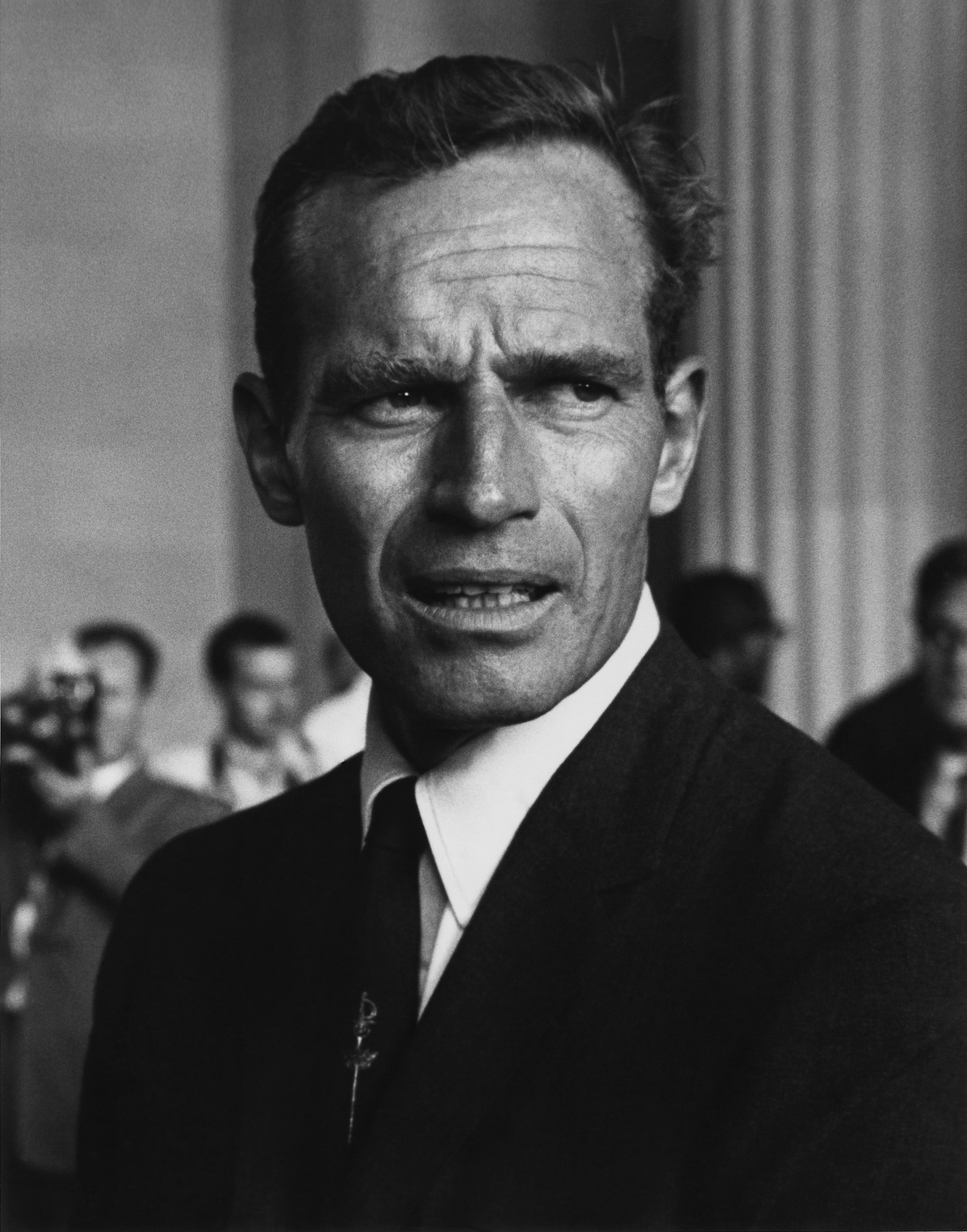 Charlton Heston at the Civil Rights March in Washington, D.C. in August 1963. | Source: Wikimedia Commons